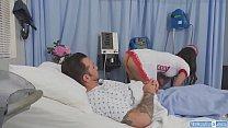 Busty TS nurse Korra Del Rio barebacked