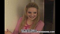 Cute teen Ally Ann fucks her boyfriend and gets a messy creampie