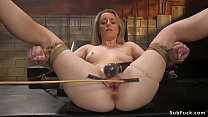 Hot tied blonde is b. anal banged