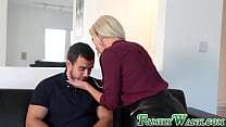 Superb MILF Nina Elle penetrated by beefy stepson's Thumb