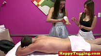 Real nuru masseuses sharing customers dick preview image