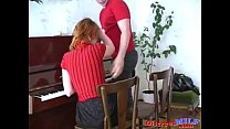 Russian Redhead  Mom Helen with Lover  Lover