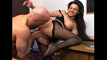Busty milf has sex in black crotchless nylons Preview