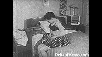 Vintage Porn 1950s - Shaved Pussy, Voyeur Fuck