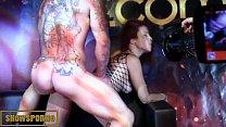 Spanish redhead pornstar hot fuck on stage