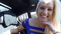 German Hitchhiker Teen Blanche Cheating Fuck in Car Bareback by Stranger