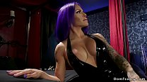 Busty shemale domme anal bangs dude