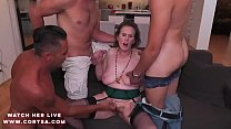 Luly Bosa Xxx - Granny Amelia in hot anal dp action thumbnail