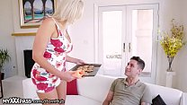 Cheating mom corrupt her stepson blowing him hard
