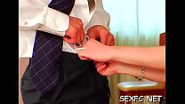 Excellent fully clothed sex scene with irresistible hotties
