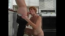 Younger guy gets blown by 70 year old redhead i...