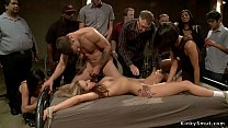 Tied blonde whipped and public banged