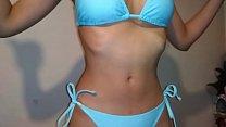 Screenshot Brunette Desi I ndoors Swimsuit Try On  Try On