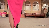 My new red dress for flashing in public Image