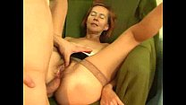 Red Head Old Anally Poled   Gaping and Granny V...