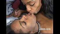 Big boob ebony freak dominated kinky black lesbian and strap-on fucks her doggy