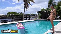 BANGBROS - Lena Paul Tans Her Natural Big Tits While Tyler Steel Looks On preview image