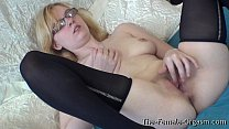 Pure Finger Rubbing Masturbating Coed with Nice Tits preview image