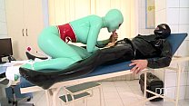 Image: Latex Lucy has a huge Orgasm in clinic fuck session
