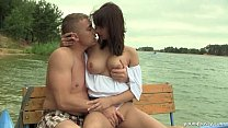 Busty teen Rita fuck dick at the lake