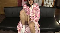 Subtitled amateur Japanese lady in kimono masturbation talk thumbnail