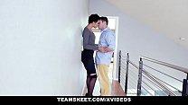 TeensLoveAnal - Cute Shy Ebony Amethyst Banks Virgin Gets Anal Stuffing image