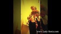Lady Sonia changes her clothes in a changing room Vorschaubild
