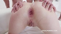 Wild slut Gabriella gets a 15on1 GangBang with with Double Anal & 17 Cumshots thumbnail