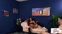 Naughty voyeur undress and tease in JOI