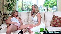 Hot Lez Girl (brandi&mia) Get Punish By Mean Lesbo With Dildos clip-11