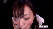 Asian Girl Rubb ing Guy Cock With Legs Sucking th Legs Sucking Him Receiving Facial On The Mattre
