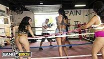 BANGBROS - Rose Monroe, Holly Hendrix and Mia Martinez On The Fuck Team Five