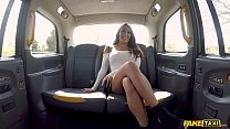 Fake Taxi Brunette with big boobs and shes a sq...