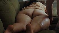 PAWG wife gets wide jiggly butt worshipped by desperate husband