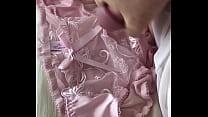 Nice load into cute pink panties