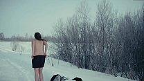 Alisa Shitikova Naked Snow Run  in Me Too