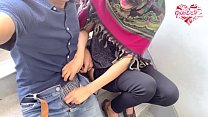 Desi hijab girl out door handjob and blowjob.