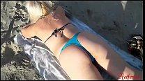 Blonde fucking on the beach