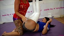 Bra and Panties Match (Strip-Wrestling Match) w, Loser gets strapped in a nappy (diaper)!! ~ Roxi Keogh vs Amy Murphy | (Featuring Jessica Morgan)