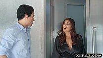 Huge tits latina hottie massages her neighbors big dick Image