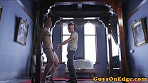 Edging sub tied up and jerked until cumshot preview image