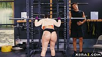 Big ass gym babe Mandy Muse anal fucked after s...