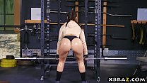 Big ass gym babe Mandy Muse anal fucked after squats Preview