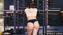 Big ass gym babe Mandy Muse anal fucked after squats image