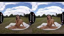 Solo fuck doll, Vanessa Decker is masturbating, in VR