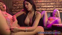 Busty milf Shy Love jumps in on a Threesome