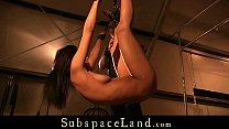 Ebony slave bondage fucked and masturbated in rough submission
