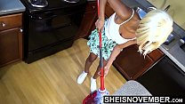 10566 Big Breasted Step Daughter Pulled Huge Boobs Out Of Hot Shirt While Cleaning Up Before Daddy Gets Home, Little Ebony Msnovember Large Nipples And Areolas Exposed HD On Sheisnovember preview