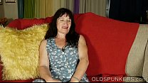 Beautiful mature brunette fucks her juicy pussy for you thumbnail