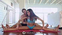 FantasyHD - Chloe Amours flexible legs are wide...